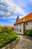 Cidade velha em Novi Sad - Sérvia imagens de stock royalty free