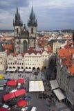 Cidade velha em Praha Fotos de Stock Royalty Free