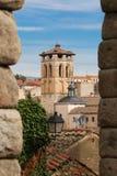 Cidade velha em Segovia, Espanha fotografia de stock