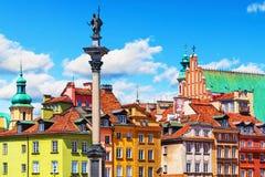 Cidade velha em Varsóvia, Poland Fotografia de Stock
