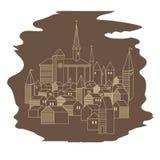 Cidade velha europeia Fotos de Stock Royalty Free