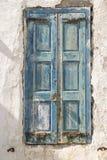 Cidade velha Grécia de Mykonos do obturador da casa da margem Imagens de Stock Royalty Free