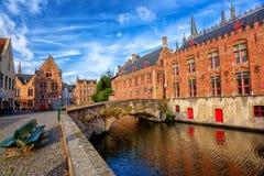 A cidade velha histórica de Bruges, Bélgica, um local da herança da cultura do mundo do UNESCO foto de stock