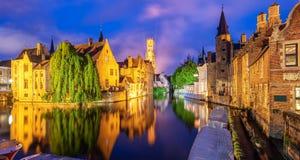 A cidade velha histórica de Bruges, Bélgica, um local da herança da cultura do mundo do UNESCO imagem de stock royalty free