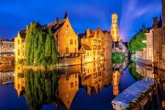 A cidade velha histórica de Bruges, Bélgica, um local da herança da cultura do mundo do UNESCO fotos de stock