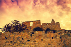 Cidade velha Jerusalem foto de stock