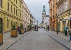 A cidade velha Krakow, Polônia foto de stock royalty free