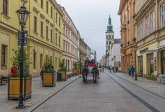A cidade velha Krakow, Polônia fotografia de stock