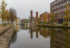 A cidade velha maravilhosa de Amsterdão, Netherland imagens de stock royalty free