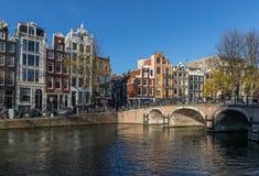 A cidade velha maravilhosa de Amsterdão, Netherland foto de stock