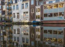A cidade velha maravilhosa de Amsterdão, Países Baixos foto de stock