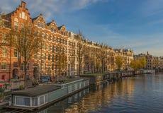 A cidade velha maravilhosa de Amsterdão, Países Baixos imagem de stock