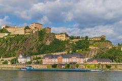 A cidade velha maravilhosa de Koblenz foto de stock