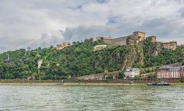 A cidade velha maravilhosa de Koblenz fotos de stock