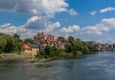 A cidade velha maravilhosa de Regensburg, Alemanha fotografia de stock royalty free