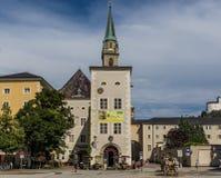 A cidade velha maravilhosa de Salzburg Áustria fotografia de stock