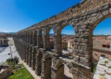 A cidade velha maravilhosa Segovia, Espanha fotografia de stock royalty free