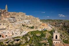 Cidade velha Matera Basilicata Apulia ou Puglia Italy fotografia de stock royalty free