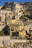 Cidade velha Matera Basilicata Apulia ou Puglia Italy foto de stock