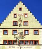 Cidade velha medieval histórica antiga Wangen Foto de Stock