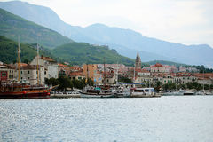 Cidade velha na costa de mar Fotografia de Stock