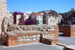 Cidade velha no Split fotos de stock