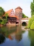 Cidade velha, Nuremberg imagens de stock