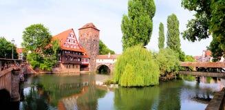 Cidade velha, Nuremberg fotos de stock