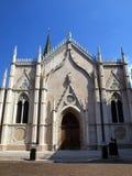 Cidade velha, parte da fachada da igreja, Trento Imagem de Stock