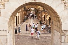 Cidade velha (Parte Vieja) em San Sebastian, Spain Fotografia de Stock