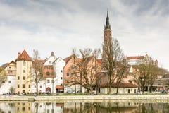 Cidade velha pitoresca de Landshut Imagens de Stock
