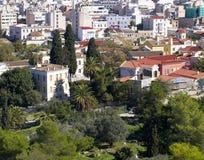 Cidade velha Plaka, sob o Acropolis, Atenas Imagem de Stock Royalty Free