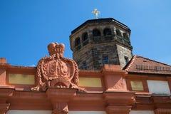 Cidade velha portal de Bayreuth - castelo velho fotos de stock royalty free