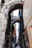 Cidade velha rachada do ` s, SEPARAÇÃO, CROÁCIA imagem de stock royalty free