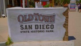 Cidade velha San Diego Historic State Park - SAN DIEGO/CALIFÓRNIA - 22 de abril de 2017 vídeos de arquivo