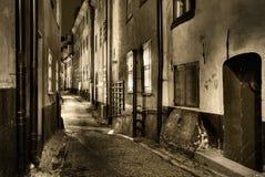 Cidade velha, sepiatoned. Imagens de Stock