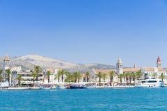 Cidade velha Trogir, Croácia - 19 de julho de 2017 Fotografia de Stock