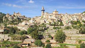 A cidade velha Valdemossa Mallorca, Espanha Fotos de Stock Royalty Free