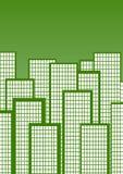 Cidade verde ilustração stock