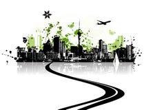 Cidade verde Fotografia de Stock