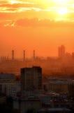 Cidade vermelha Imagem de Stock