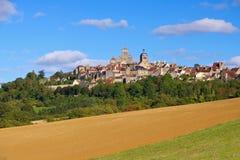 A cidade Vezelay, Borgonha foto de stock royalty free