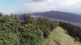 Cidade vista de acima video estoque