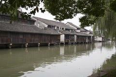 Cidade Wuzhen da água foto de stock royalty free