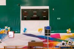 Cidade Yasny, RÚSSIA, o 15 de março de 2019: Esportes e ARENA complexa da aptidão editorial imagem de stock