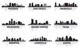 Cidades americanas ilustração royalty free