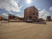 Cidades após o terremoto poderoso, Equador das ruínas Imagens de Stock Royalty Free