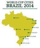 Cidades Brasil 2014 do campeonato do mundo Foto de Stock Royalty Free