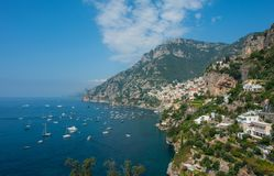 Cidades costeiras em Capri fotos de stock