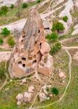 Cidades da caverna Cappadocia, Anatolia, Turquia Museu do ar livre, Gorem Fotografia de Stock